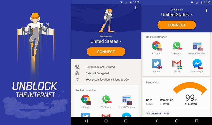 Rocket VPN–Must Have VPN for Android