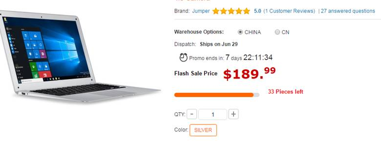 Jumper Ezbook 2 Ultrabook Laptop and EZpad Sale
