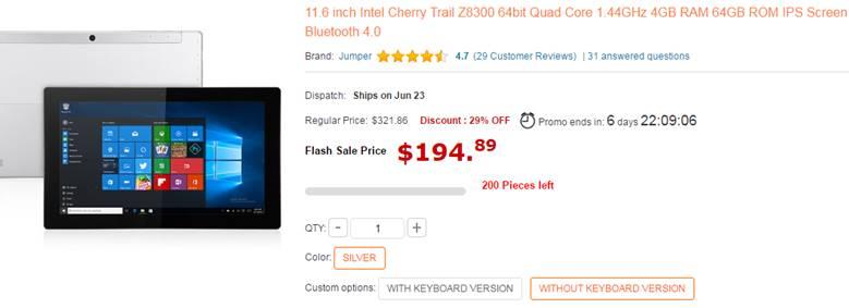Jumper Ezbook 2 Ultrabook Laptop and EZpad Sale